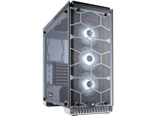 CORSAIR Crystal Series 570X RGB Tempered Glass, Mid Tower Case, White $110  @Newegg