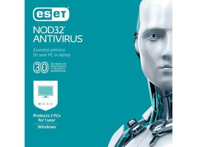 ESET NOD32 Antivirus 2019 - 3 PCs (Product Key Card) $10 AC @Newegg