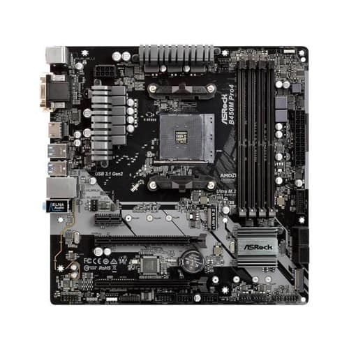 ASRock B450M PRO4 AMD AM4 Micro ATX Motherboard EXPIRED
