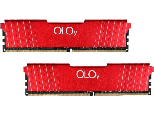 OLOy 16GB (2 x 8GB)  DDR4 2400 Desktop RAM Kit $40.49 AC @Newegg