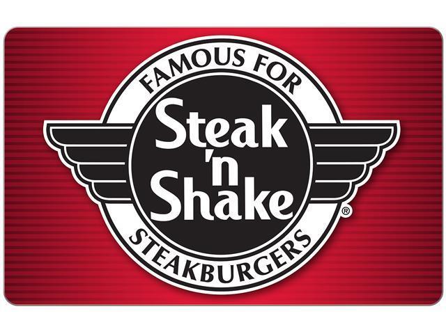 $25 Steak'n Shake Gift Card (Email Delivery)  $20 @Newegg
