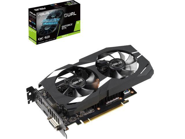 ASUS Dual GeForce GTX 1660 Ti DUAL-GTX1660TI-O6G Video Card $240 AR @Newegg