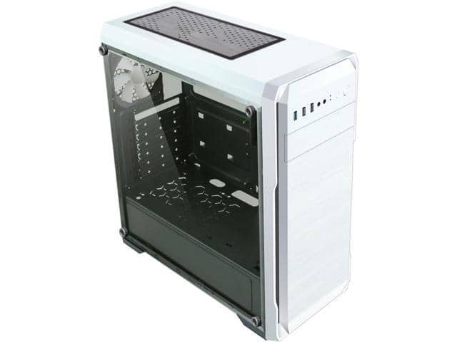 DIYPC DIY-A1-W White Tempered Glass USB 3.0 ATX Mid Tower Case $35.49 shipped AC @Newegg