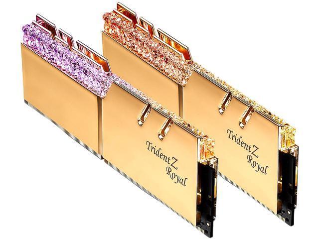 16GB (2x 8) G.SKILL Trident Z Royal RGB DDR4 3200 Desktop RAM $115 @Newegg