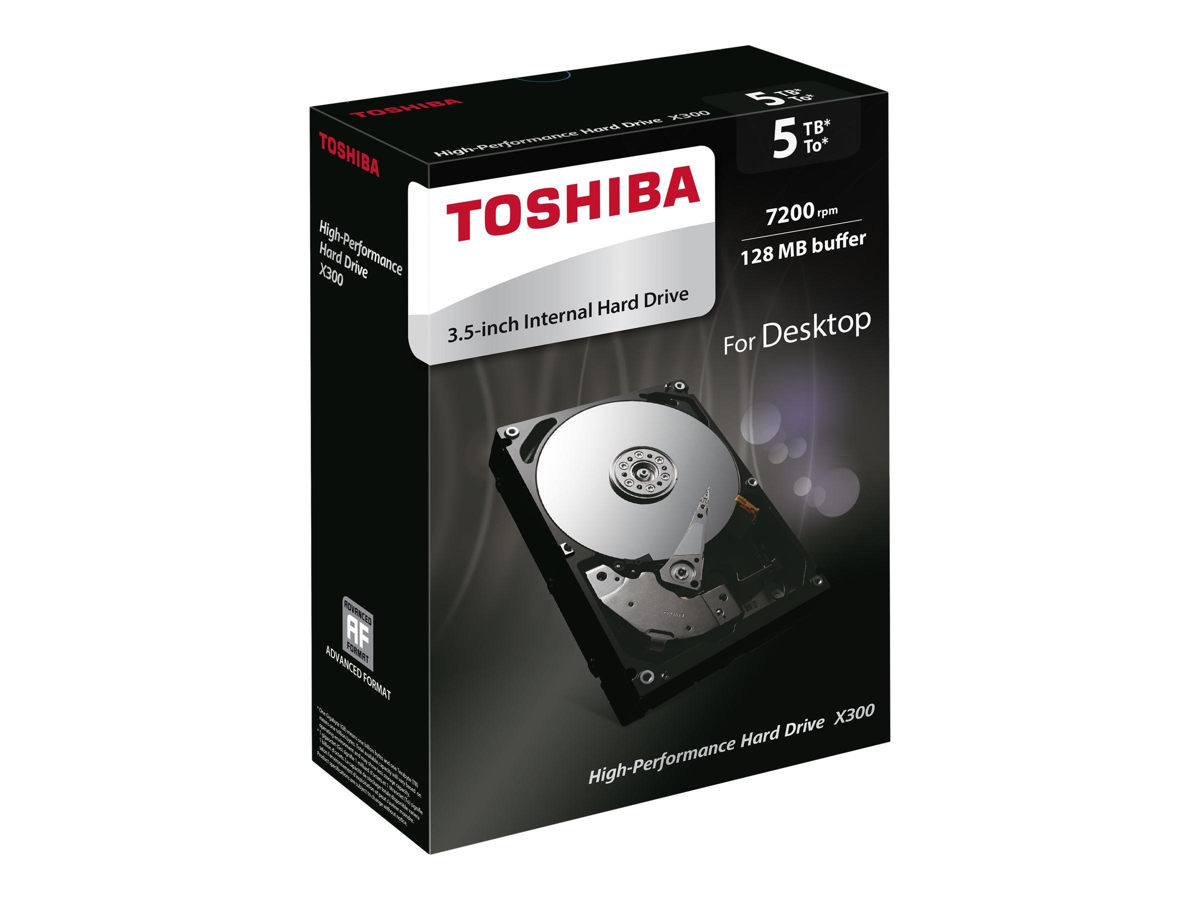 "5TB Toshiba X300 7200RPM 3.5"" Desktop Hard Drive $100 AC @Newegg"