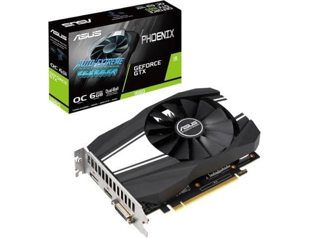 ASUS GeForce GTX 1660 Overclocked 6GB Phoenix Fan Edition Video Card $190 AC @Newegg