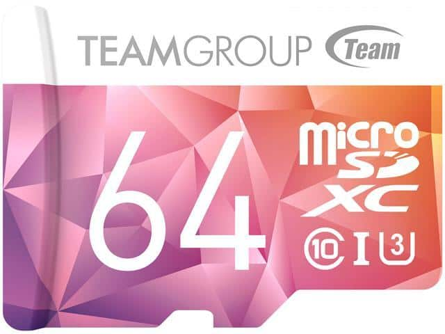 64GB Team Color II microSDXC UHS-I/U3 Class 10 Memory Card $8 @Newegg