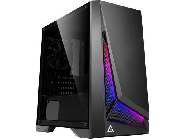 Antec Dapper Dark Phantom DP301M Black Steel /ARGB Lighting/Tempered Glass mATX Gaming Case $40 AR @Newegg
