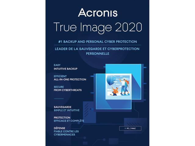 Acronis True Image 2020 1 PC /MAC $13 AC @Newegg