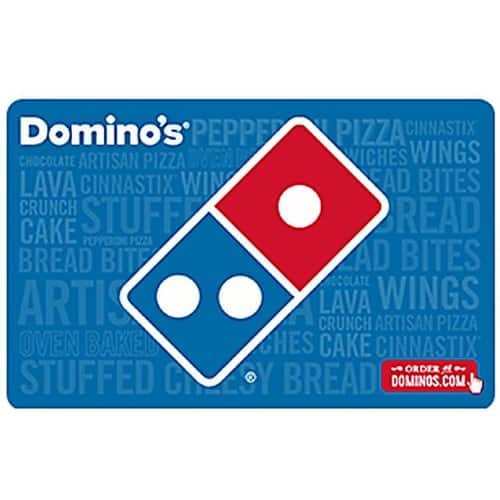 Domino's $25 + $5 Gift Card  (Email Delivery) $25 @Newegg