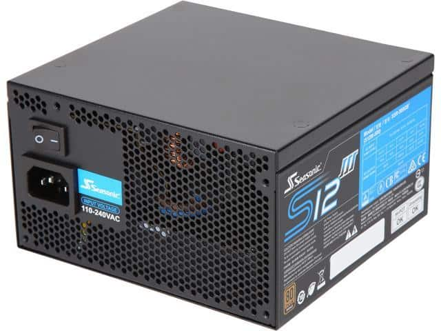 500W Seasonic S12III 500 SSR-500GB3 80+ Bronze Power Supply $30 AR @Newegg