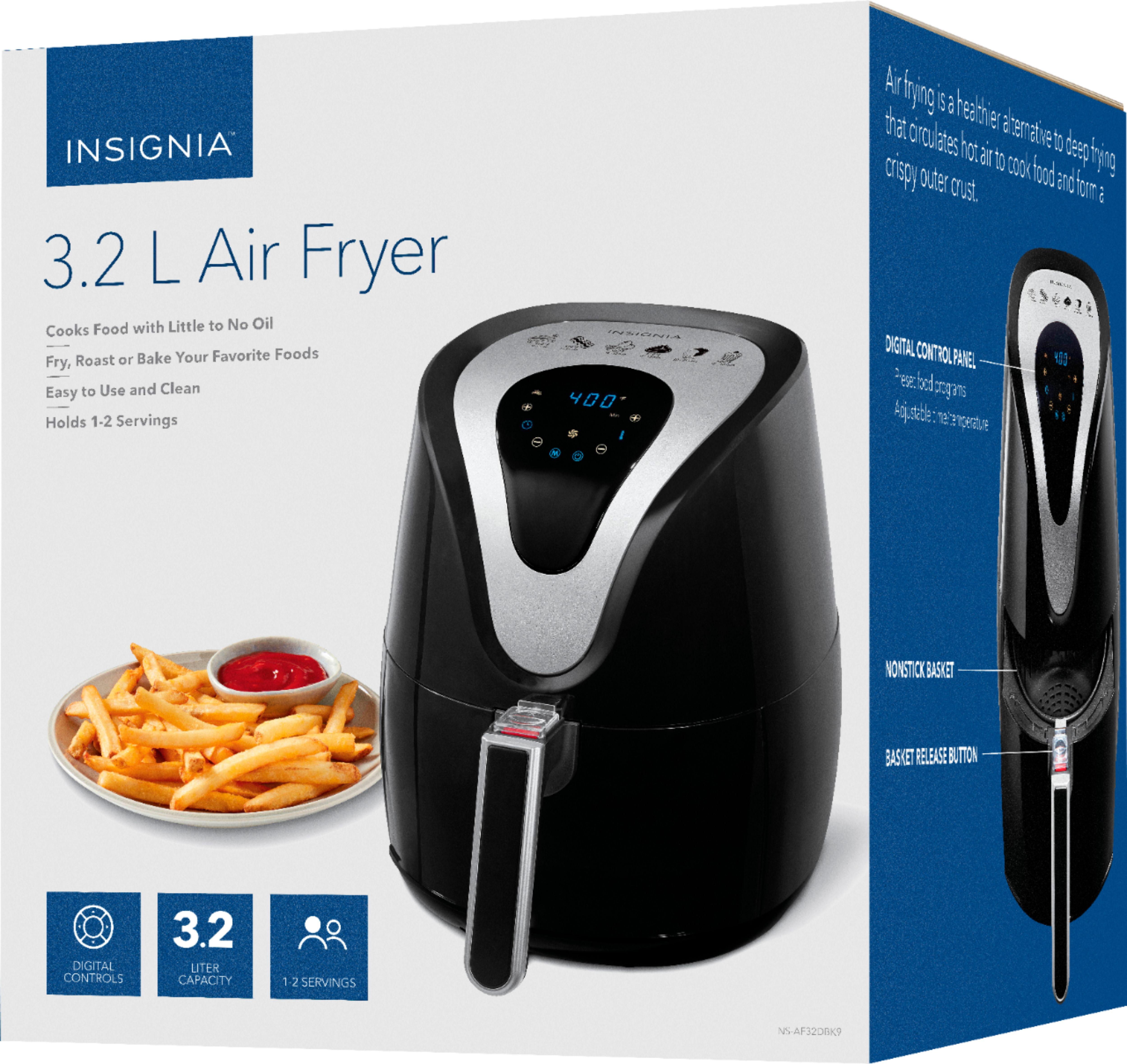 Insignia™ - 3.2qt Digital Air Fryer - Black @bestBuy $34.99  6.8qt / $49.99