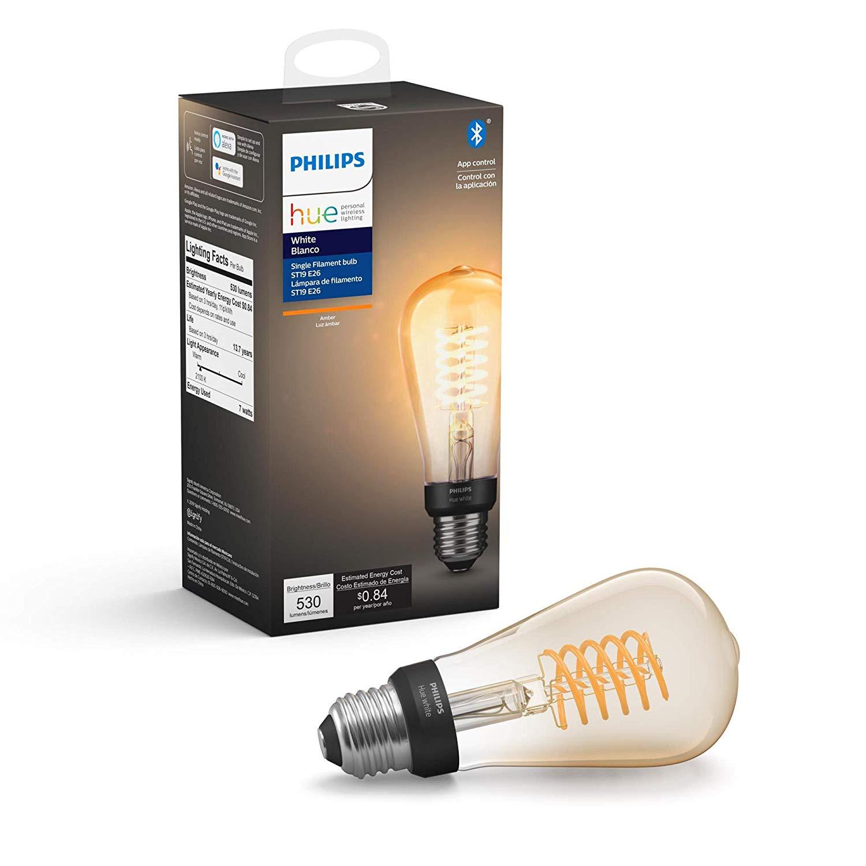 Philips Hue 551796 1-pack ST19 E26 Filament Edison Bulb @Amazon $27.95