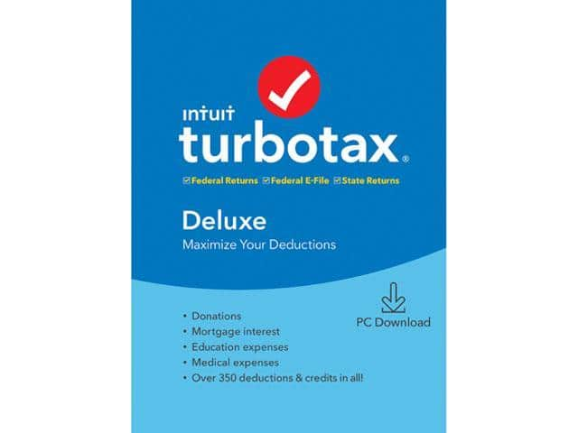TurboTax Deluxe + State 2019 PC Download @Newegg $36.99