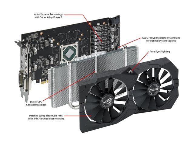 ASUS ROG Strix Radeon RX 570 O4G Video Card (BL3 | Ghost Recon + 3 months of Xbox Game Pass) $119.99