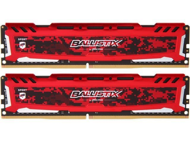 32GB (2x 16) Ballistix Sport LT DDR4 3200 Desktop RAM Kit @Newegg $116.99