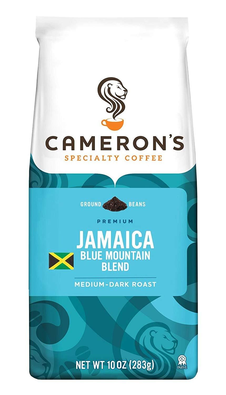 Cameron's Coffee Roasted Ground Coffee Bag, Jamaican Blue Mountain Blend, 10 Ounce (AC+ S&S) $4.28