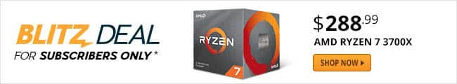 AMD RYZEN 7 3700X 8-Core 3.6GHz AM4 Desktop Processor + 3-Month Xbox Game Pass @Newegg $288.99