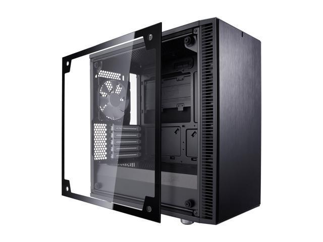 Fractal Design Define Mini C TG Black Tempered Glass Silent Compact Micro ATX Mini Tower Case @newegg $87