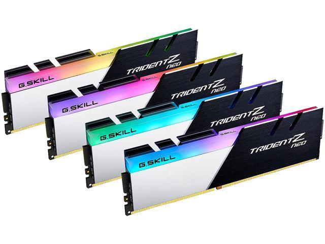 64GB (4x 16) G.SKILL Trident Z Neo Series RGB DDR4 3600 Desktop RAM Kit $339.99