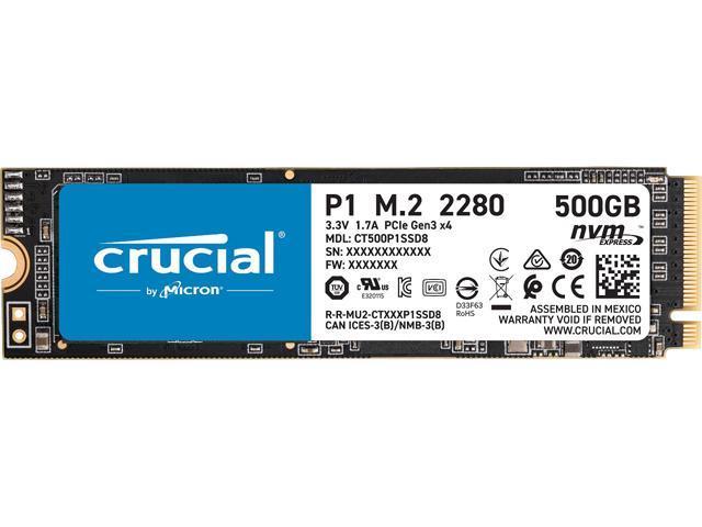 500GB Crucial P1 3D NAND M.2 NVMe PCIe SSD $57