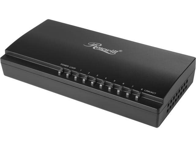 Rosewill RC-410LXv2 8-port Gigabit Switch @Newegg $7