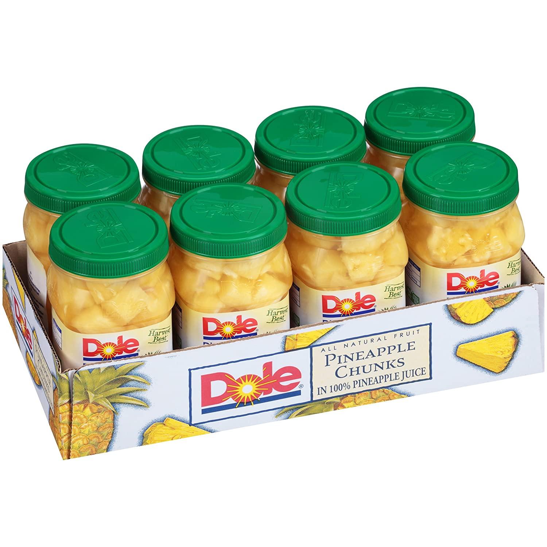 Dole Pineapple Chunks, 23.5 Ounce Jars (Pack of 8) @Amazon $14.05