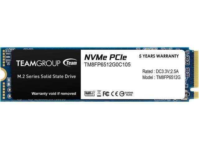 512GB Team Group MP33 M.2 2280 NVMe 1.3 SSD @Newegg $57