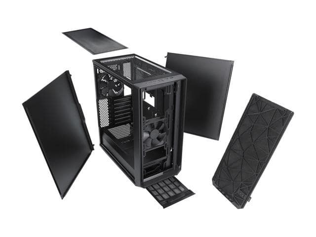 Fractal Design Meshify C Black High-Airflow Compact Dark Tint Tempered Glass Window Mid Tower Case @Newegg $89