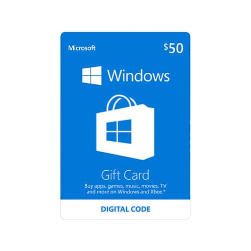 $50 Microsoft Windows Store Gift Card (Email Delivery) $45