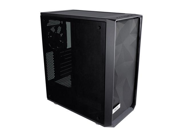 Fractal Design Meshify C Black High-Airflow Compact Dark Tint Tempered Glass Mid Tower Case @Newegg $86