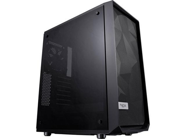 Fractal Design Meshify C Black High-Airflow Compact Dark Tint Tempered Glass Mid Tower Case @Newegg $88