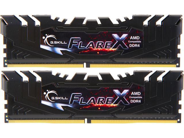 16GB (2x 8) G.SKILL Flare X (for AMD) DDR4 3200 Desktop RAM Kit @Newegg $56