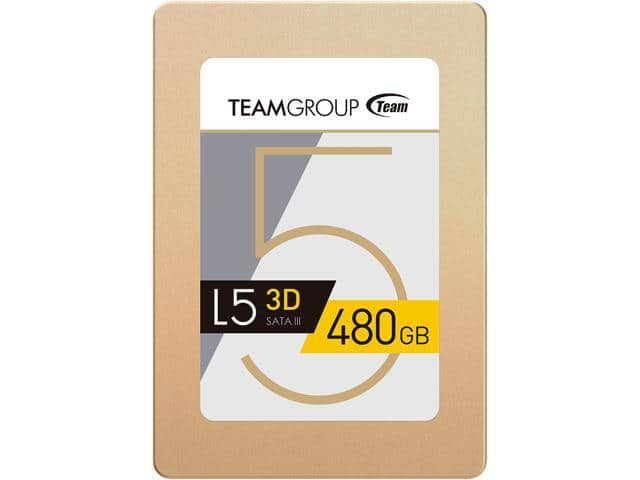 "480GB Team Group L5 3D 2.5"" SSD @Newegg $48.59"
