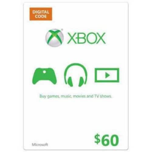 Xbox Gift Card $60 US (Email Delivery) $54