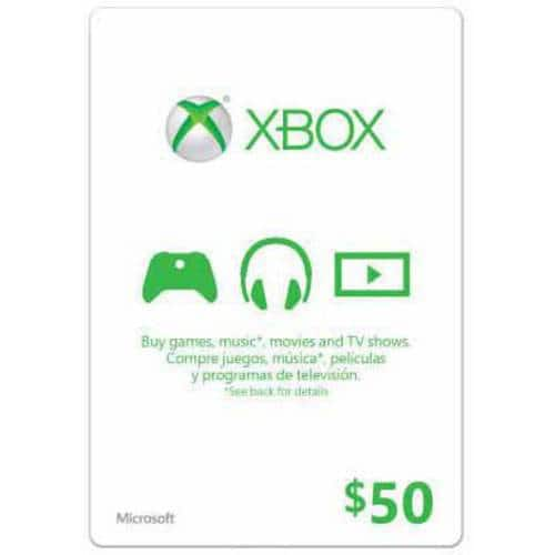 Xbox Gift Card $50 US (Email Delivery) @Newegg $45