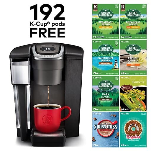 "Staples Online Coupon: $30 Off $125+; Keurig K1500 Commercial Coffee Maker Bundle $150 AC; 27"" AOC IPS Monitor $105"
