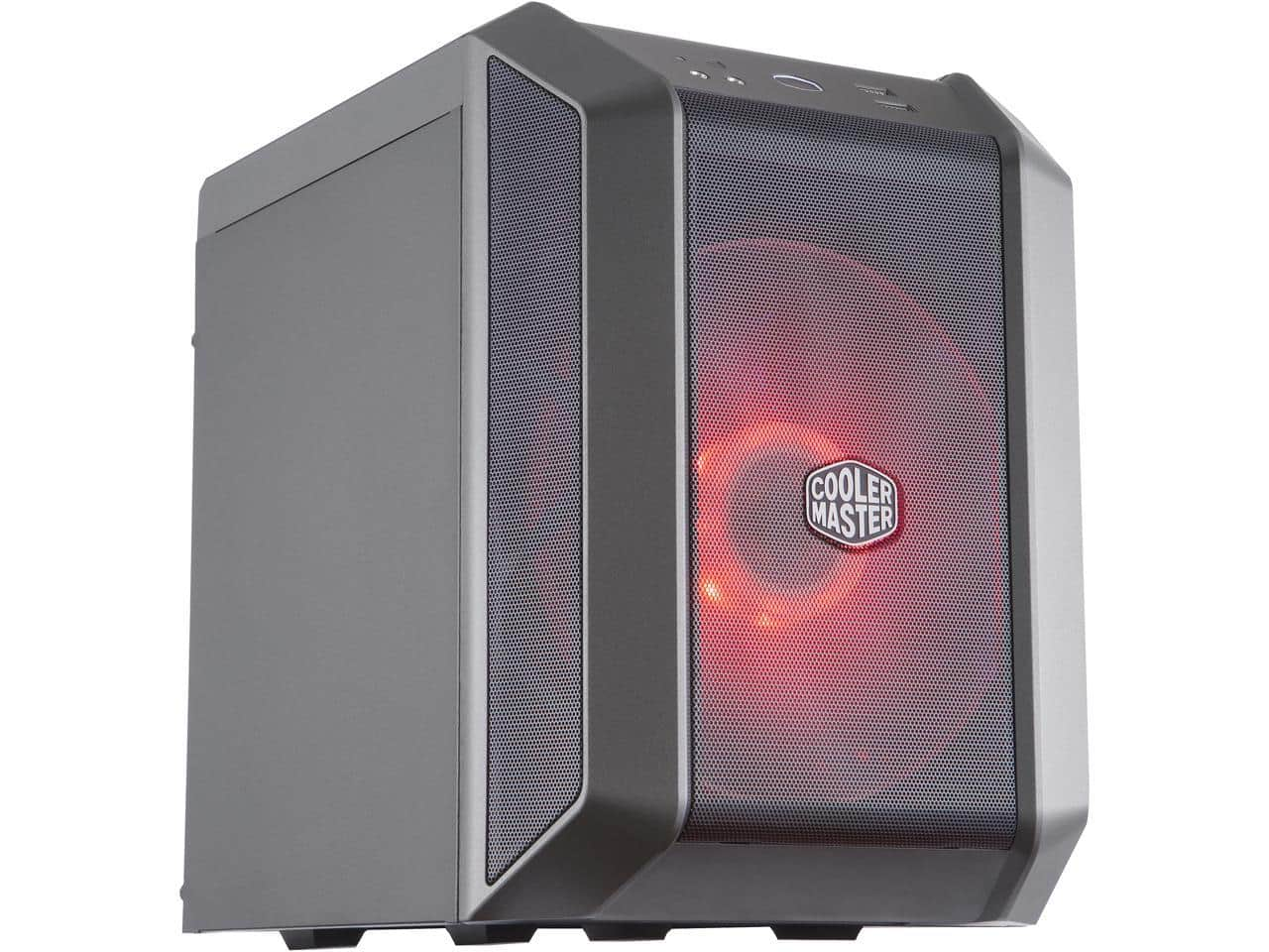 Cooler Master MasterCase H100 Mini-ITX Case w/ 200mm RGB Fan, Mesh Front Panel, Built-In Handle $64.99 @Newegg (AR) $50