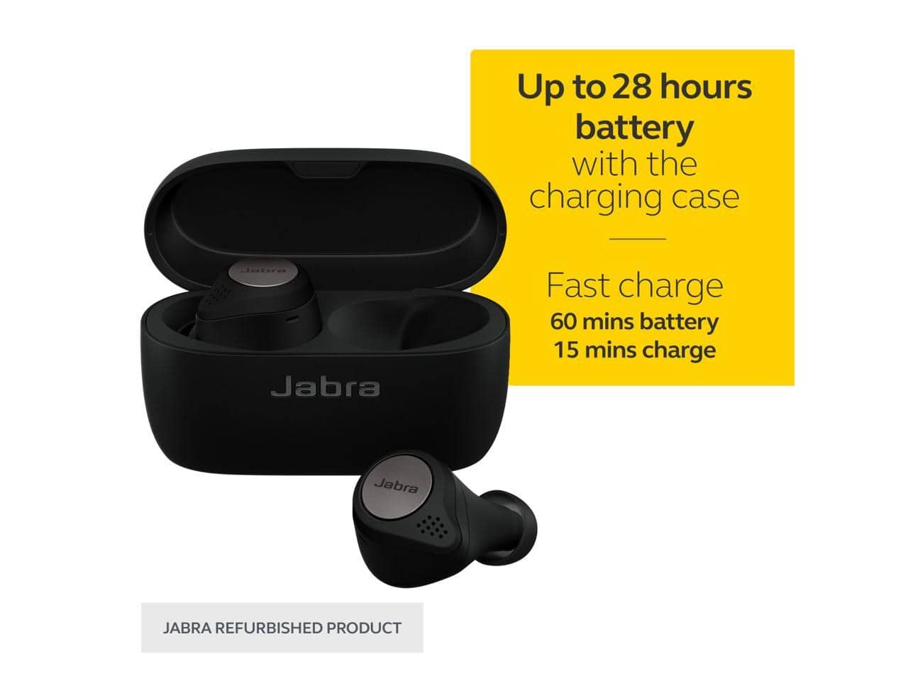 Jabra Elite Active 75t True Wireless Earbuds *RFB* Titanium Blk + $5GC @Newegg $115