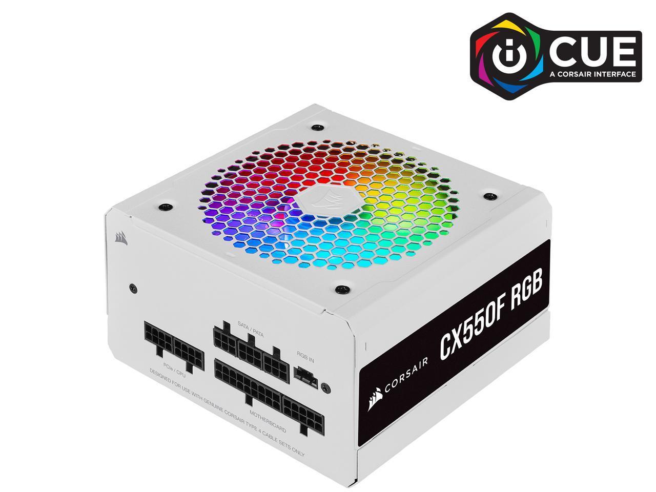 650W CORSAIR CX-F RGB Series CX650F RGB White 80+ Bronze Modular Power Supply @Newegg (AR) (also 550W / $60 AR) $70