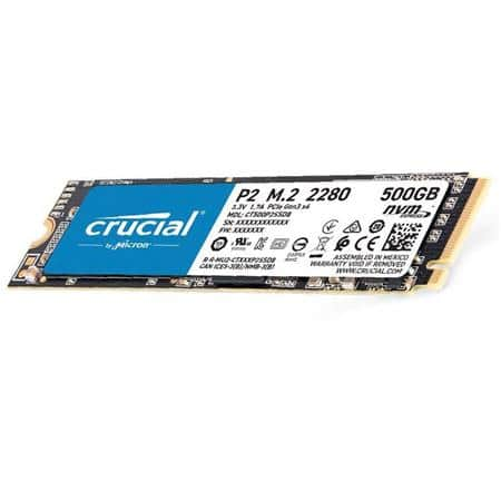 500GB Crucial P2 NVMe SSD @Adorama  (10TB Seagate Expansion Desktop HDD / $165) $48