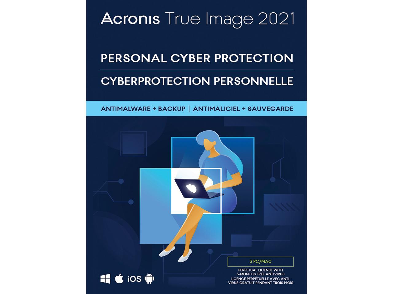 Acronis True Image 2021 3 PC/Mac, (Boxed   DL) @Newegg $30