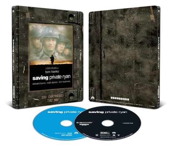 Saving Private Ryan   Forrest Gump [SteelBook] 4K BluRay @Bestbuy Gladiator 20th Anniv $17 and more