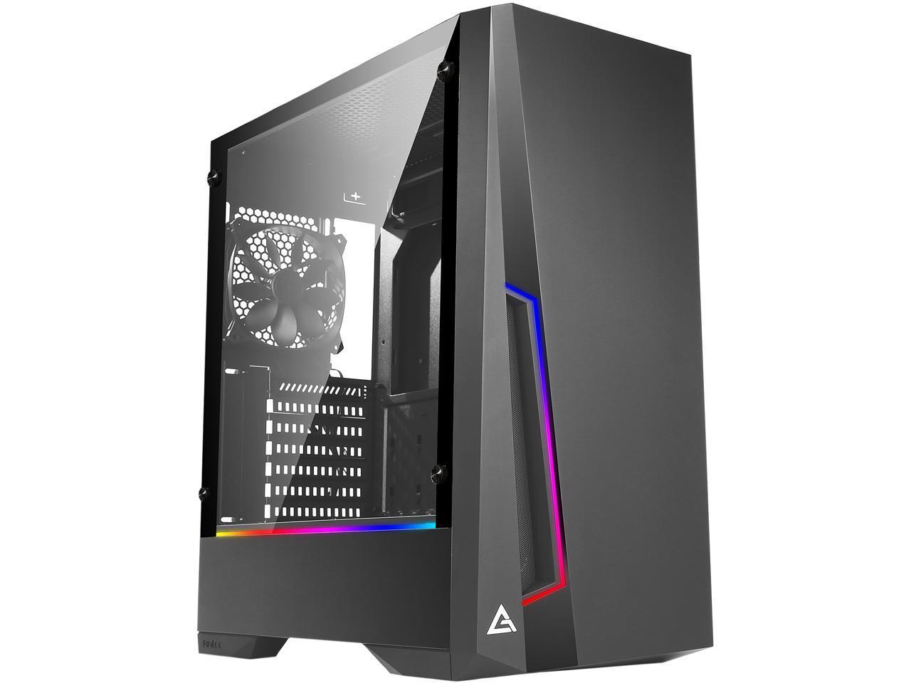 Antec Dark Phantom DP501 Tempered Glass ARGB Mid Tower Gaming Case $42AR @Newegg (also 650W HGC650 80+ Gold Modular PSU $75AR)