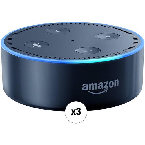 Amazon Echo Dot 3-Pack Kit (2nd Generation, Black) $116.97