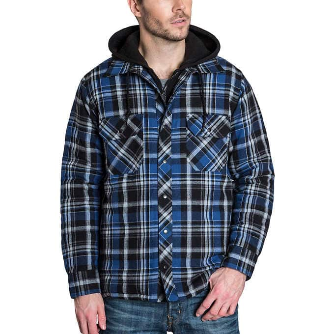 BC Clothing Men's Flannel Shirt Jacket With Hood $14.99