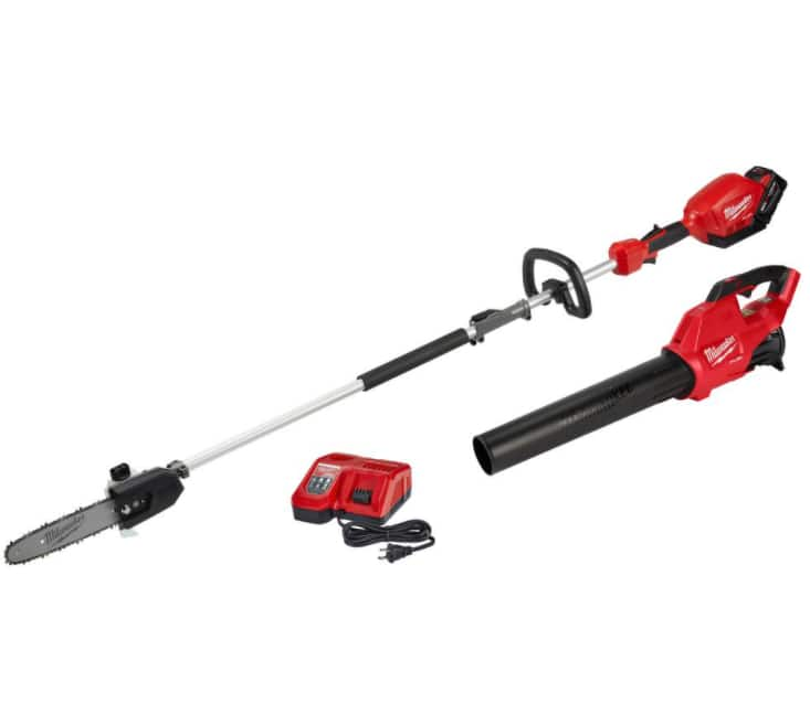 Milwaukee M18 Quik Lok Pole Saw Kit (8ah Battery and Charger) with Free M18 Fuel Blower $369