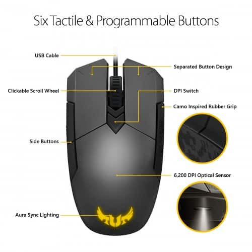ASUS TUF Gaming K5 Keyboard and M5 Mouse Combo $69.99