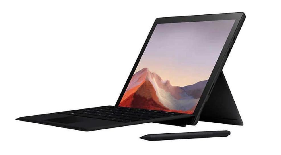 ew Microsoft Surface Pro 7 Bundle - 10th Gen Intel Core i5 - 2736 x 1824 Display - Windows 10 - Black $999