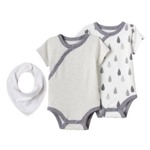 Baby Jumping Beans® Print & Graphic Kimono Bodysuits & Bib Set $4.04